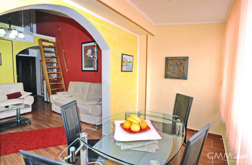 A two-bedroom apartment in Budva.
